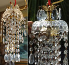 1o8 SWAG hanging Jelly Fish inspired vintage Lamp Chandelier brass crystal glass