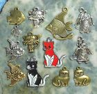 Cat Fish Dog Charms Tibet Silver Gold Bronze Zinc Alloy Pewter 4 Day USA