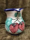 Vietri Pottery Hand Painted Italy 1 1/3 Cup Creamer 4.5