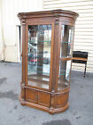 52917 Oak Etched Bow Glass China Cabinet