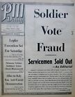 3-1944 WWII March 3 SOLDIER VOTE FRAUD - LEPKE EXECUTION - ITALY ANZIO PM Daily