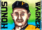 2015 Honus Wagner Pittsburgh Pirates 1 1 Original Art Sketch 2 Cards Artist Sign