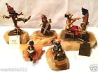 Vintage Lot of 5 RON LEE Clown Sculpture including the Onyx Base 24k Gold Plated