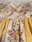 Custom Made Full Size Dust Ruffle and Pillows Yellow and Floral Stunning