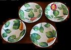 Four Vintage Italian White Ceramic Hand painted Fruit or Dessert Bowls