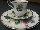 Tea Cup and Saucer*Queen's Fine Bone China*Made in England*Flowers