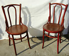 A pair of  vintage Thonet style chairs from 1920' decorative