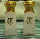 ROYAL JNNSBRUCK 1936 Austrian Salt Shakers 18K Gold Antique Vintage