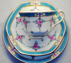 MINTON PERSIAN ROSE hexagon TEA CUP AND SAUCER TRIO #B838 BREAD PLATE