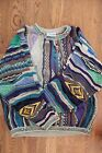 COOGI Bill Cosby Sweater Vintage Size M Excellent Condition Purple Geometric
