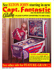Vintage Bally CAPT. (CAPTAIN) FANTASTIC Pinball Machine Flyer - Elton John!