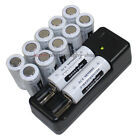 Charger +12x 2000mAh Battery 18500 for Outdoor Work Bicycle LED Flashlight Torch