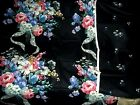 Matching Daisy Kingdom Fabric FLORAL Queen Anne's Lace on Black 6 yards