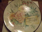 AVON FINE COLLECTIBLES JOYOUS OCCASSIONS ANNIVERSARY PORCELIAN PLATE NEW IN BOX