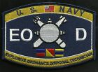United States NAVY EXPLOSIVE ORDNANCE DISPOSAL TECH EOD MILITARY RATING PATCH