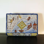 Antique Montagnon French Faience Ceramic Book Form Hand Warmer Flask, 19th C.