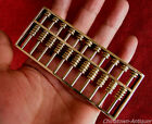 Chinese Copper mini miniature abacus SuanPans 11 Column 77 Count beads #843