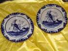 Sweet Delft Blue Holland antique plates