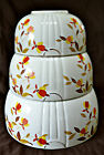JEWEL TEA AUTUMN LEAF PATTERN NESTING MIXING BOWLS