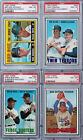 PSA 8 1967 Topps #423 Fence Busters Willie Mays & McCovey Perfect Color & Focus