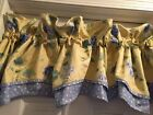 Waverly Blossom Hill Hydrangea Floral & Polka Dot Valance Lilac And Yellow 16x76