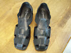 Women shoes White Stag classic strappy sandals Size 7 black wedge
