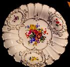MEISSEN GERMANY SHOW PLATE FLORAL DECORATION MOLDED GILT RIM HAND-PAINTED