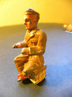 Barclay / Manoil / Lead Toy Soldier / Sitting on Box: Typing / 80% Paint