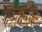 1890's ANTIQUE PRESSED BACK CHAIRS WITH GARGOYLES ON THEM