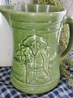 Antique Buccaneer Pirate 1926 Nelson McCoy Pitcher Green Figural Stoneware BAR