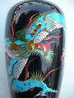 Amazing Very Old Japanese Enamel Cloisonne Dragon Vase!