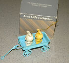 Vintage Avon gift SPRING BUNNY collection ornament BUNNIES in WAGON original box