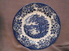 Churchill ENGLISH SCENE Blue White Transferware Bread Dessert Plate - Fishing