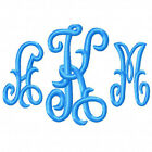 Machine Embroidery Designs Monogram Set 201 4 size 1 2 3 4 Alphabet Font CD