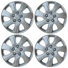NEW SET of 4 Hub Caps Fits TOYOTA CAMRY 15 Universal ABS Silver Wheel Cover Cap