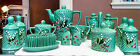 Vintage 1950's Majolica Lily Of The Valley 24 Piece Kitchen Gorgeous Set. Rare!