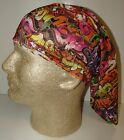 rainbow graffiti tag chemo therapy hair loss head wrap cover turban scarf wig