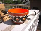 Vtg SMF SCHRAMBERG GERMANY HAND PAINTED SAMBESI Orange Ramekin Bowl Retro 1960s