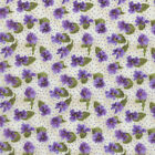 RJR Fabrics Debbie Beaves Lovely 1447 02 Small Pansy on Cream By the Yard