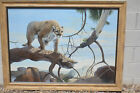 Authentic Mario Fernandez (1946-2012)  Oil on panel mountian Lion 33