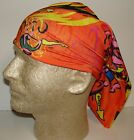 orange black bike cycle chemo therapy hair loss head wrap cover turban scarf wig