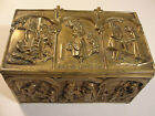 Peerage England Cries of London Antique Heavy Solid Brass Hinged Tobacco Box 3lb