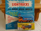 VINTAGE LOUIS MARX 1/64 DIECAST LIGHTRUCK NEW IN BLISTER BATTERY OP LIGHTS