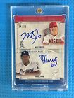 MIKE TROUT YASIEL PUIG 2015 Museum Dual On Card Archival Auto RARE SSP 14 15
