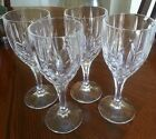 4 Gorham Crystal - Lady Anne Water Glasses / Goblets 8
