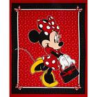 Disney Minnie & Purse and Bow red 100% cotton 44