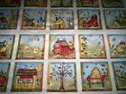 1 PANEL SEW NICE TO BE HOME Jacqueline Paton Red Rooster blocks of home