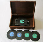 Vintage Swiss Thorens AD-30 Disc Music Box Player Walnut Case 5 Disc Plays Great