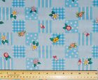 1 yard 100% cotton fabric cloth material Mary Engelbreit Geo patch blue quilting