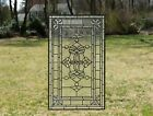Stunning Handcrafted All Clear stained glass Beveled window panel 205 x 34